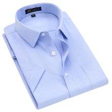 Dress-Shirt Short-Sleeve Factory-Direct-Clothing Oxford-Print Smart Casual Men's Regular-Fit
