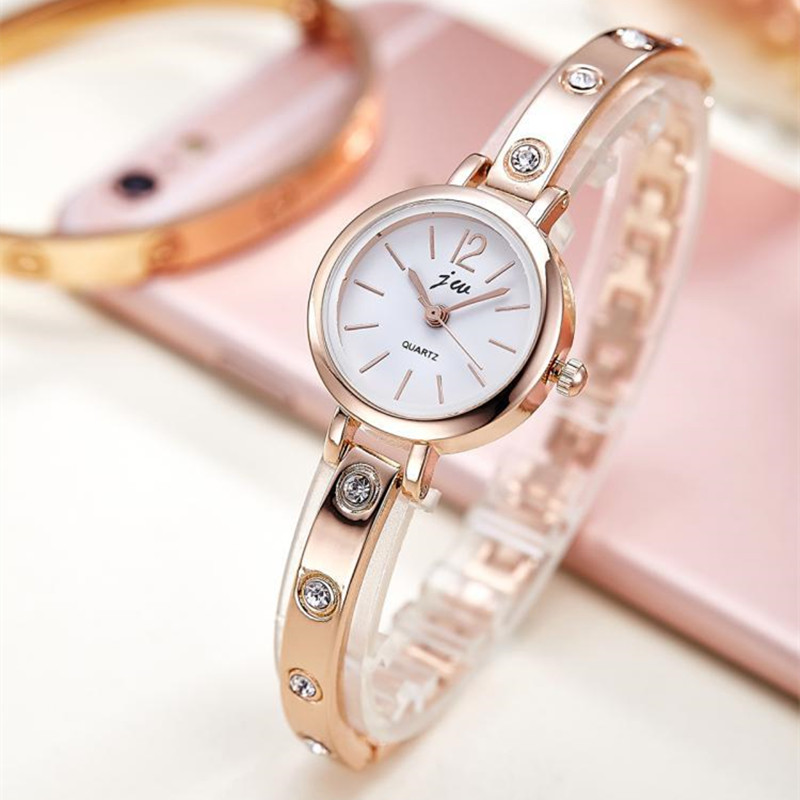 New Bracelet Watches Women Luxury Brand Stainless Steel Rhinestone Wristwatches For Ladies Dress Quartz Watch Reloj MujerAC072