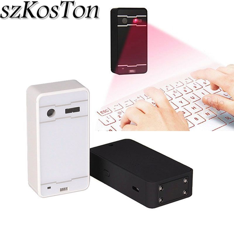 Mini Portable Bluetooth Wireless Laser Virtual Projection Keyboard ABS Bluetooth Keyboard with Mouse and Gesture Functions rk908 portable bluetooth wireless keyboard