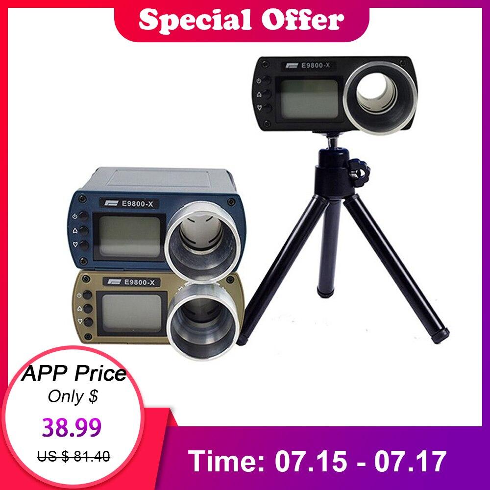 Précision compteur de vitesse Instruments de mesure de vitesse chronographe pour la prise de vue écran Lcd Portable Chronoscope testeur de vitesse E9800-X