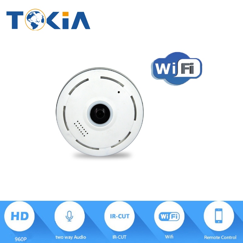 Wireless WiFi 960P IP Network Security Camera 360degree fisheye ONVIF Indoor IR 2-Way Audio home alarm system