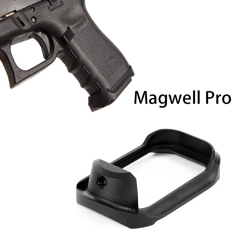 CNC tactique en aluminium Glock Mag-well Magwell Grip Base Adater Pad pour la chasse Airsoft Glock 19 23 32 38CNC tactique en aluminium Glock Mag-well Magwell Grip Base Adater Pad pour la chasse Airsoft Glock 19 23 32 38