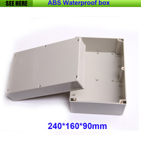 Free Shipping Best Small Size Grey Cover ABS Material IP65 Plastic Waterproof Electrical Box 240 160