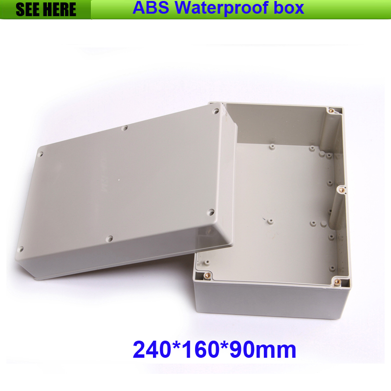 Free Shipping Best Small Size Grey Cover ABS Material IP65 Plastic Waterproof Electrical Box 240*160*90mm free shipping terminal box industrial plastic waterproof box electrical junction box 160 160 90mm