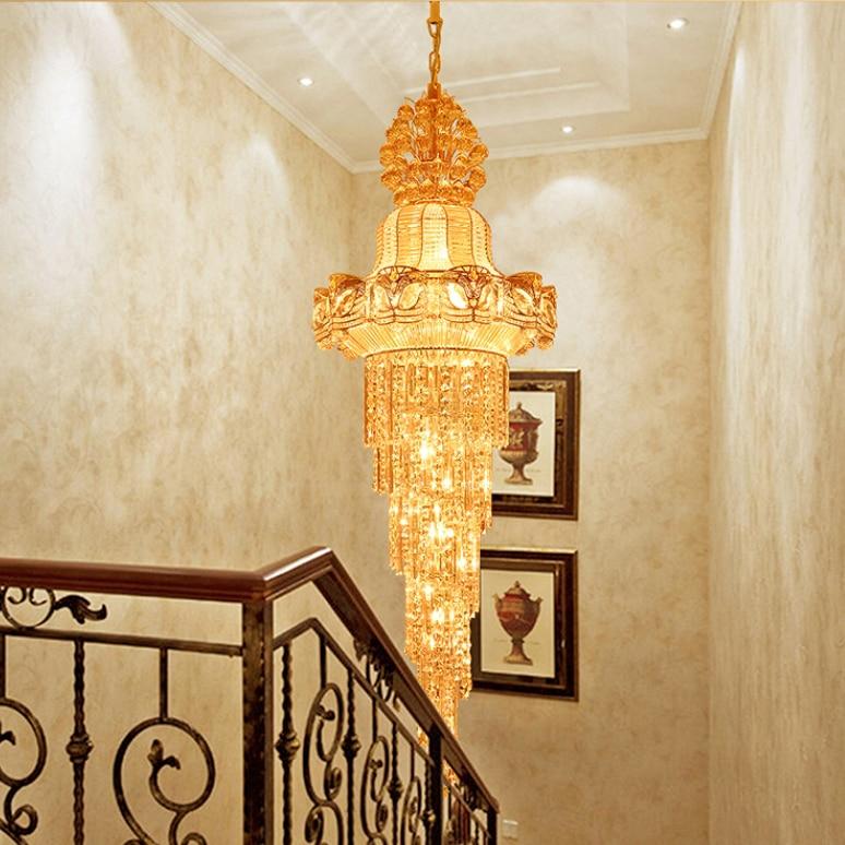 Faruri lungi de aur Lustre de cristal Lustre de cristal Luminărie - Iluminatul interior - Fotografie 3