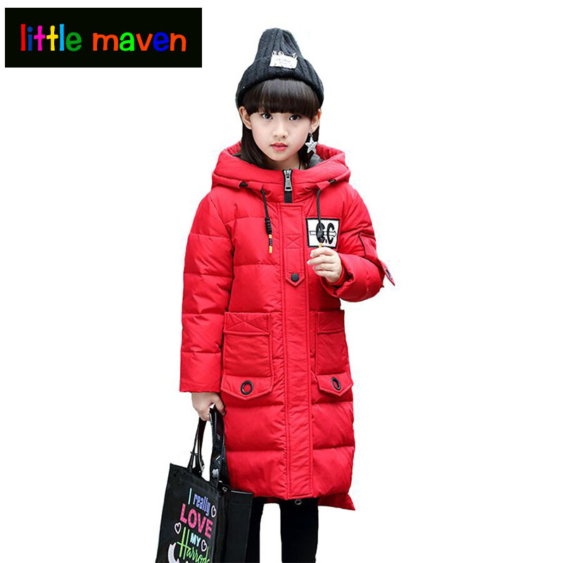 down jacket for girl children down jacket in the long winter wear 2018 children in the new thick coat thick girls inverno menina цена