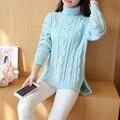 Осень зима высокий воротник свитера женщины свободные большой размер водолазка толстый свитер женский потяните femme