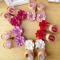 Sandálias de festa da menina da criança sapatos meninas princesa crianças sapata de bebê de couro crianças verão tamanho 21-30 para 3 ~ 15 flor ano novo