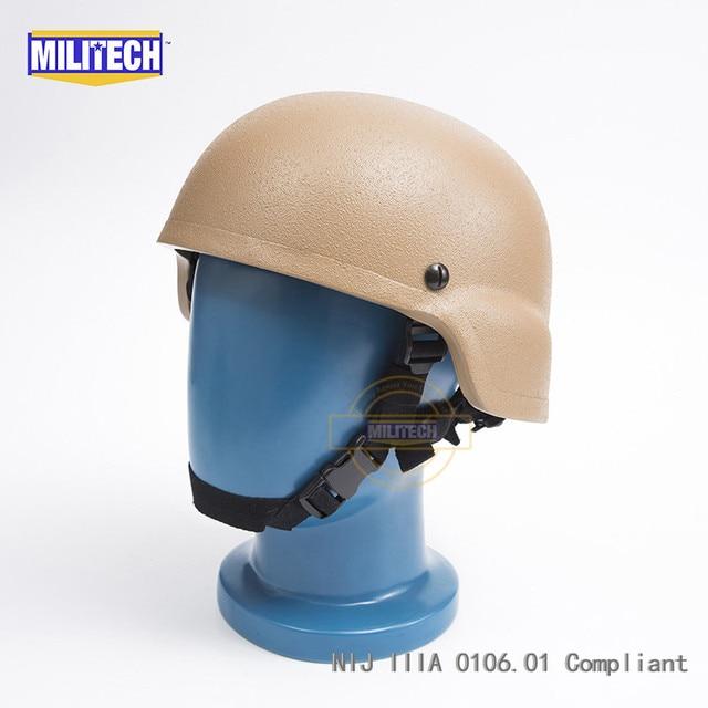 MILITECH CB NIJ IIIA 3A MICH Bullet Proof Helmet Aramid ACH Ballistic Helmet Bulletproof Mich 3A 2000 Helmet With Test Report