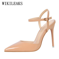 76c7a2395b72 designer luxury brand bigtree shoes high heels sandals women mules  chaussures femme ete 2019 patent leather shoes women pumps-in High Heels  from Shoes on ...