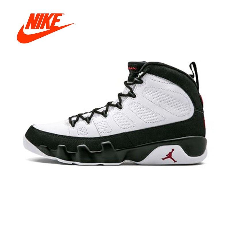 Original Nouvelle Arrivée Authentique Air Jordan 9 Blanc/Noir-Rouge hommes chaussures de basket-ball Extérieur Confortable De Bonne Qualité