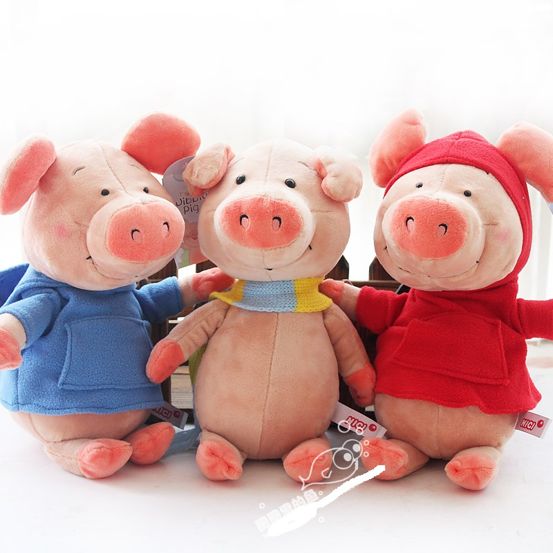 Nici plush toy stuffed doll wibbly pig hoodie scarf piggy piglets lover couples christmas birthday gift 1pc free shipping