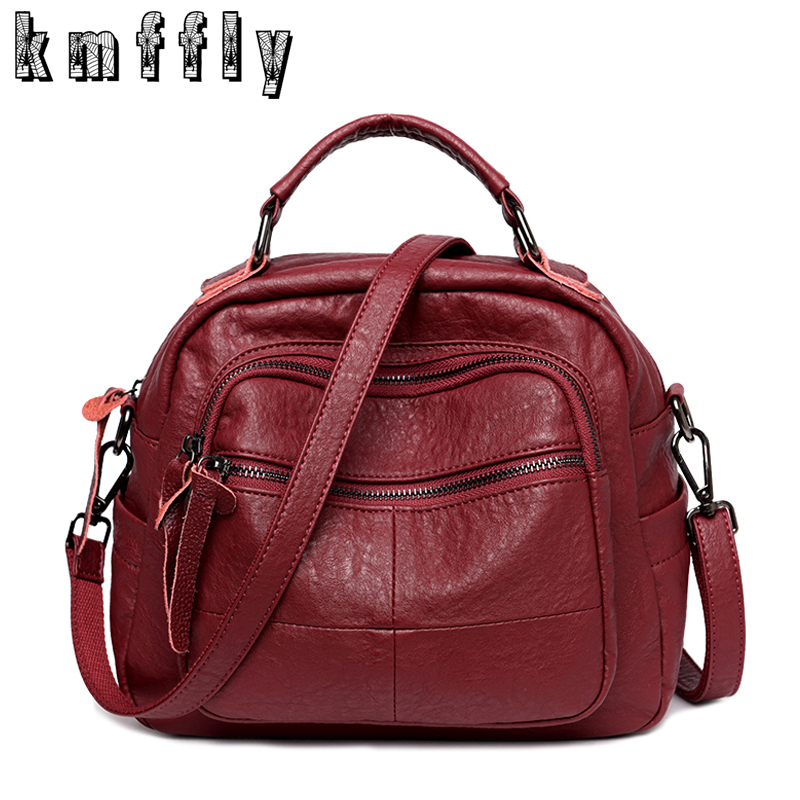 KMFFLY Brand Luxury Handbags Women Bags Designer Soft PU Leather Bag Women High Quality Shoulder Bags Female Sac Crossbody Bag kmffly red thread women shoulder bags designer pu leather messenger bags female luxury casual flap crossbody bags bolsa feminina
