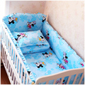 Baby crib bedding set cot bedding sets 5 PCS baby bed set (bedding bumpers +fitted sheet ) Free Shipping