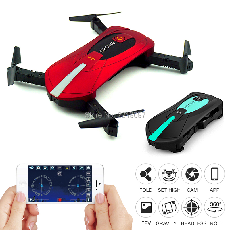 JY018 Mini Foldable Selfie Portable Folding RC <font><b>Drone</b></font> <font><b>FPV</b></font> Pocket Quadcopter With Camera HD WIFI Altitude Hold Helicopter VS GW018 image