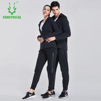 VANSYDICAL Couple Sports Suits Running Suits 2pcs Gym Sportswear Winter Compression Fitness Tracksuits Training Jogging Suits