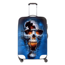 1 Fashion Elastic Travel Luggage Protective Covers Waterproof Skull Printed Covers for 18-30 Inch Luggage Set Travel Accessories