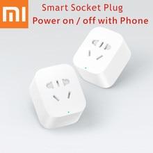 Original Xiaomi Inteligente Socket Adaptador de Enchufe de LA UE EE.UU. UA Enchufe Bacic WiFi Remoto Inalámbrico encendido y apagado con el teléfono