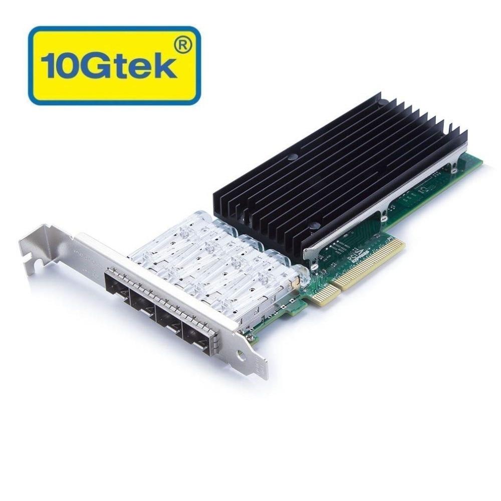 10 Gtek pour XL710-QDA1, adaptateur réseau convergé 40GbE (NIC), Port QSFP + simple, 40 Gigabit Ethernet PCI Express CNA/NIC
