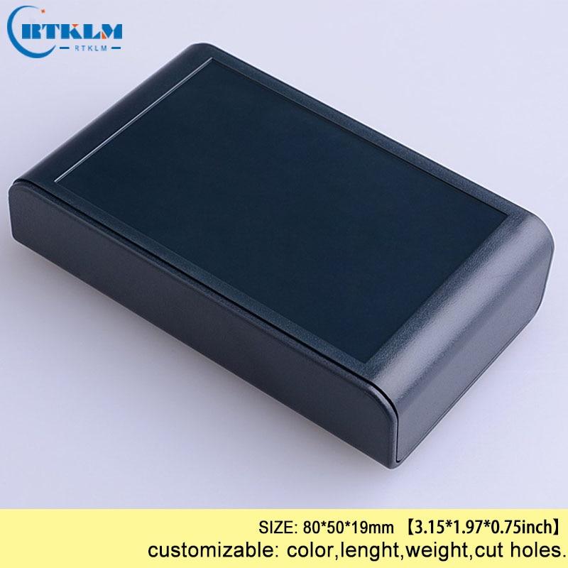 DIY пластиковая коробка для проекта, корпус из АБС-пластика, Электронная распределительная коробка, заказной ящик для инструментов, маленькая настольная оболочка 80*50*19 мм - Цвет: BMD60001-A2