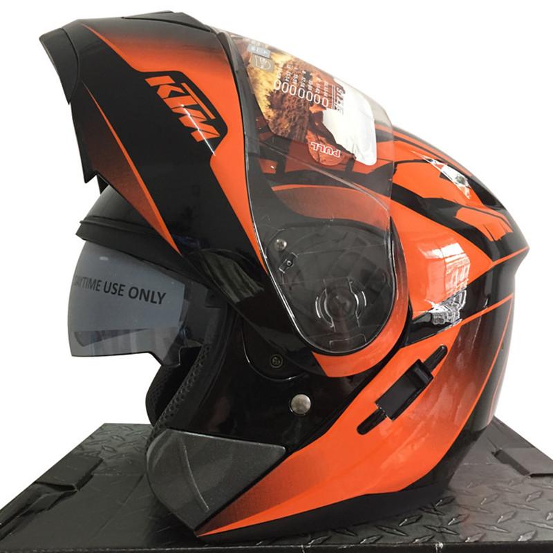 en gros 2016 moto casque racing complte casque double lentille flip up casque de moto ktm