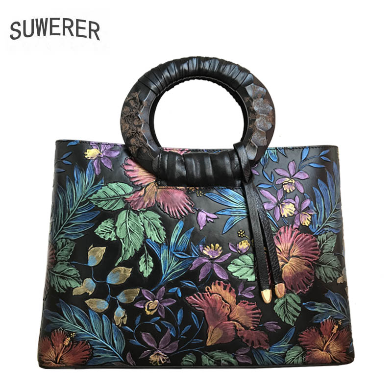 SUWERER2017 new high-quality luxury fashion leather handbag shoulder Messenger bag, women's well-known brand