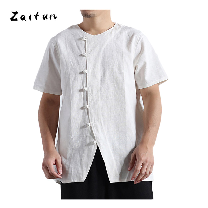 Online Get Cheap Linen Collarless Shirts for Men -Aliexpress.com ...