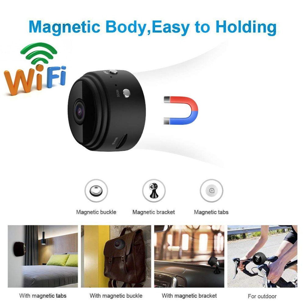 Mini Camera WIFI Small Camera Wireless HD 1080P with Motion Detection Night Vision Remote Security Nanny indoor Home hidden TF image