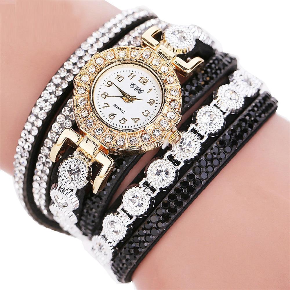 HTB1dg1NiQ7mBKNjSZFyq6zydFXaB - Women's Luxury Fashion Analog Quartz Rhinestone Bracelet Watch