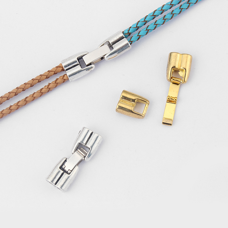 3Sets Jewelry Finding Antique Silver/Gold Snap Clasp For 3mm Round Leather Cord DIY Bracelets & Bangles Jewelry Making