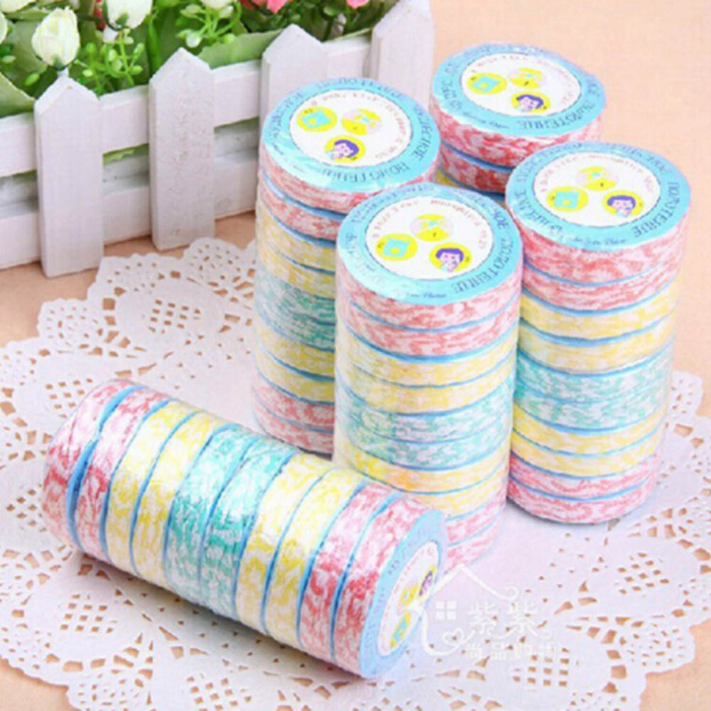 1/pc Color Random Compress towels Large wood fiber nonwoven compressed towel Multicolor Portable travel towel gift