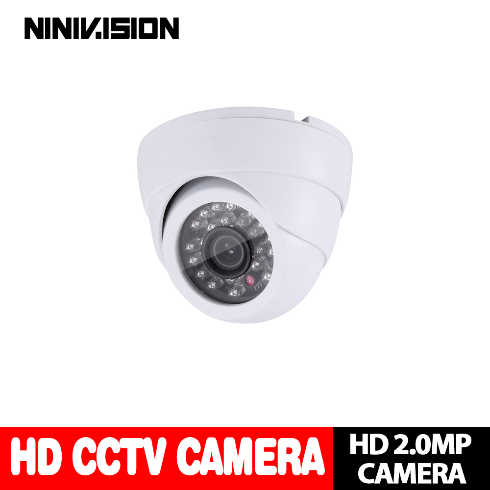 Home Indoor outdoor White Dome camera IR-CUT 2.0MP 1080P AHD Camera Night Vision AHD-H CCTV Camera for home surveillance system enster home ahdh 2mp hd 1080p security indoor dome camera ir cut filter day night vision surveillance plastic ahd camera