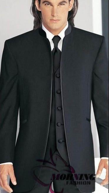 2018 New style blue Groom Tuxedos Groomsmen Men\'s Wedding Suits ...