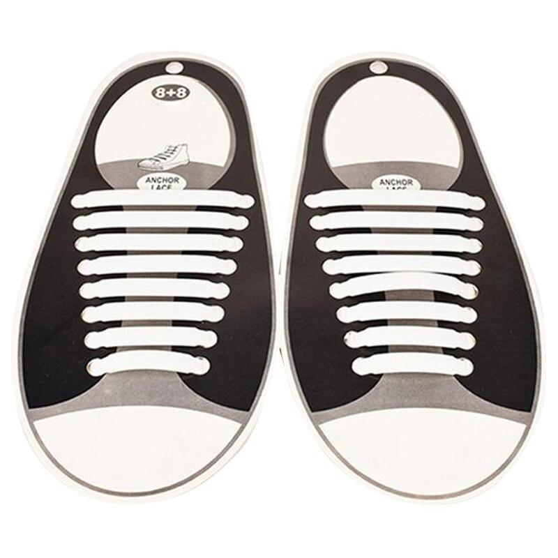 Nessun Legare Lacci Delle Scarpe per Bambini e Adulti-12 Colori (Confezione da 16 pz Vtie Silicone Shoeslaces, funziona In Tutte Le Scarpe Da Ginnastica) Scarpe Pizzo