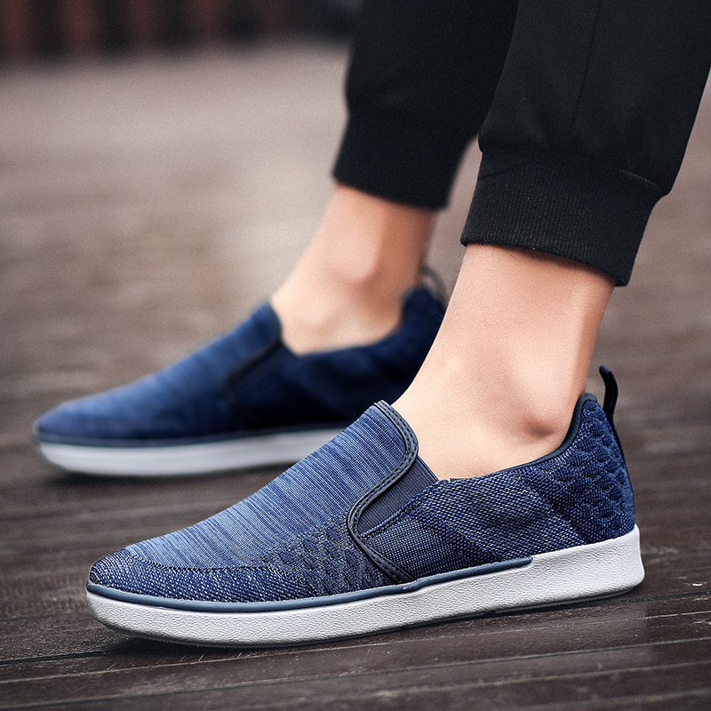 CYYTL Performance Men's Loafers Soft Flyknit Slip-On Walking Shoes Spring Casual Male Sneakers Zapatos de Hombre Erkek Ayakkabi (24)