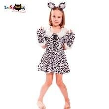Disfraz de Eraspooky Halloween para niños Leopard Spot Cute Christmas Cosplay Dress Diadema Animal Traje de disfraces 2018 niñas Cosplay