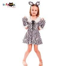 Eraspooky Halloween Costume для детей Leopard Spot Cute Christmas Cosplay Платье Костюм для костюмов для костюмов животных 2018 для девочек Cosplay