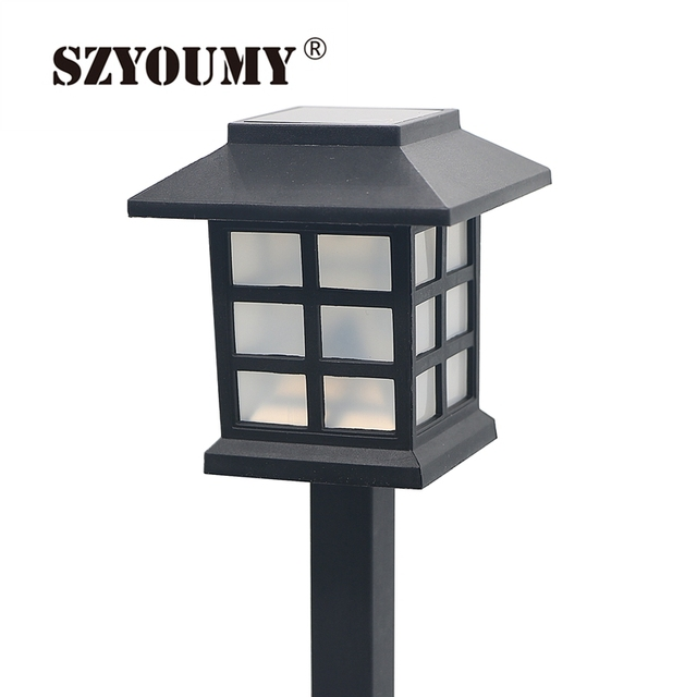 Szyoumy Waterproof White Led Solar Landscape Light Cottage Style Outdoor Garden Lawn Yard Doorway Park Square