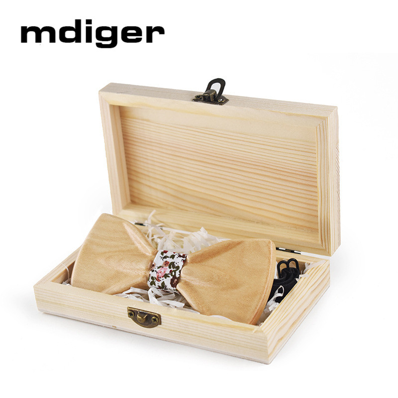 Mdiger Wooden Bow Ties Cufflinks Handkerchiefs Tie Clip Gift Set Men Tie Shirt For Men Wedding Jewelry Box a set of deep tartan pattern tie pocket square bow tie