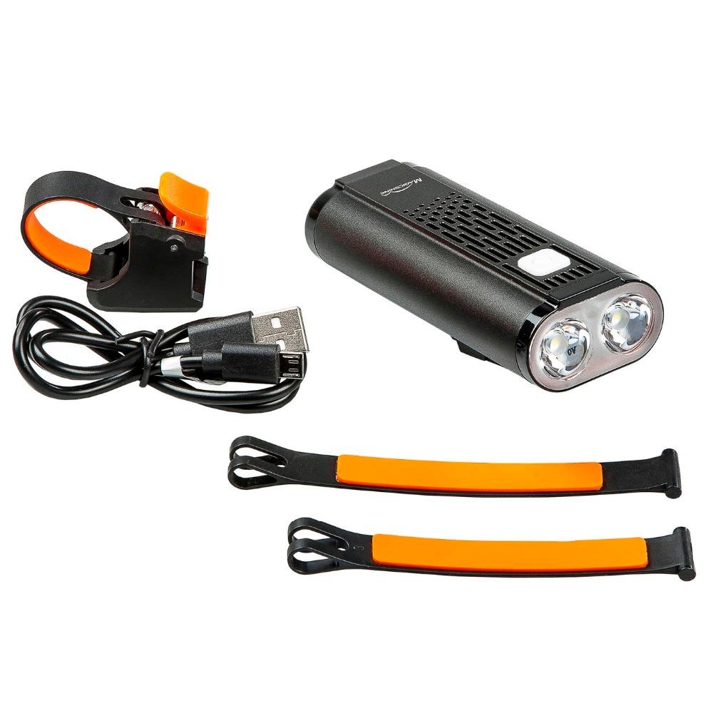 Mago americano Monteer 1400 Luz de bicicleta USB carga compatible MTB bicicleta de carretera linterna ciclismo impermeable Faro de bicicleta - 2