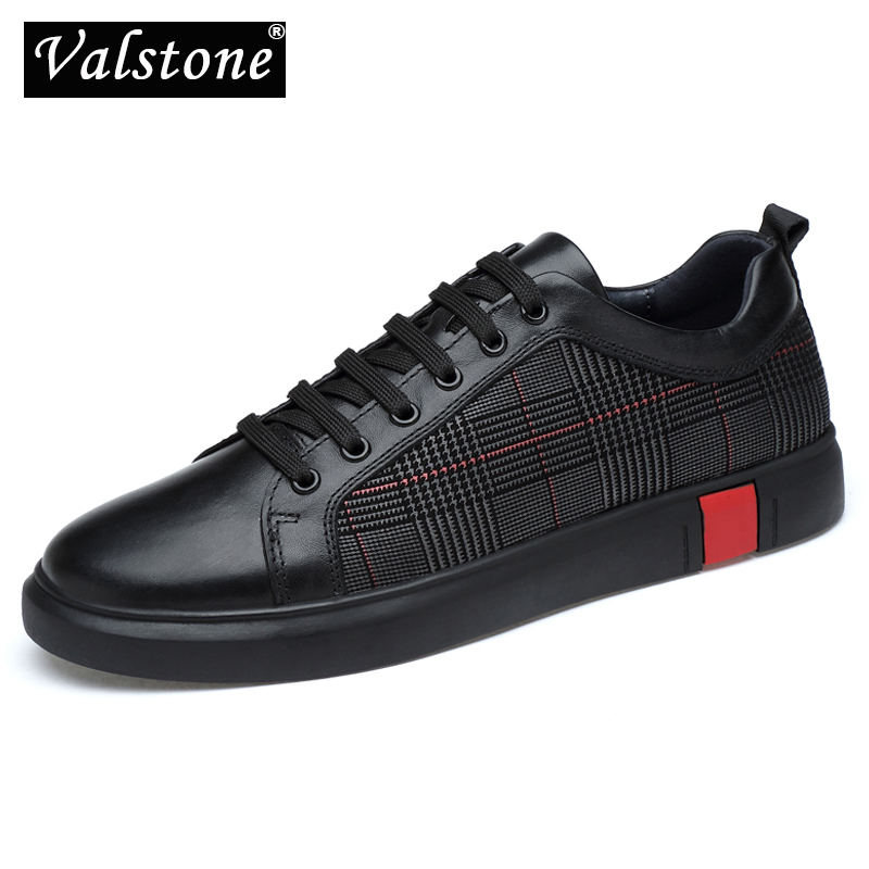 Valstone Men's Genuine leather shoes 2019 Autumn luxury Original leather sneakers designer shoes zapatillas hombre Plus size 46 -in Men's Casual Shoes from Shoes    1