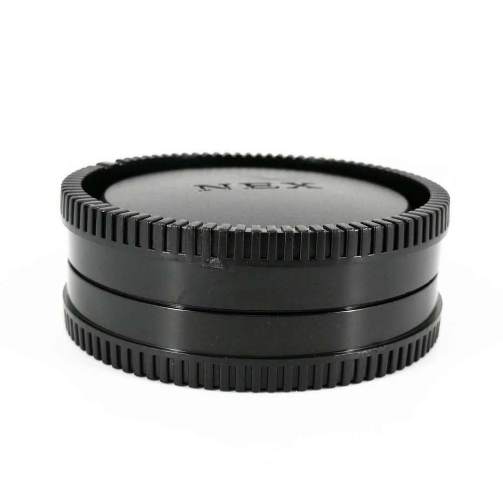 Tapa de objetivo trasero + tapa frontal de cámara para Sony E Mount NEX 5 6 7 A6000 A6100 A6300 A6400 A6500 A6600 A7 A7R II III IV A9