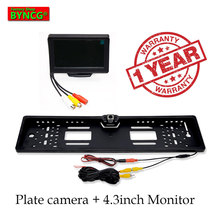 BYNCG Car Monitor 2019 NEW 170 European license plate frame car rear view camera 12 LED universal CCD infrared LED night vision
