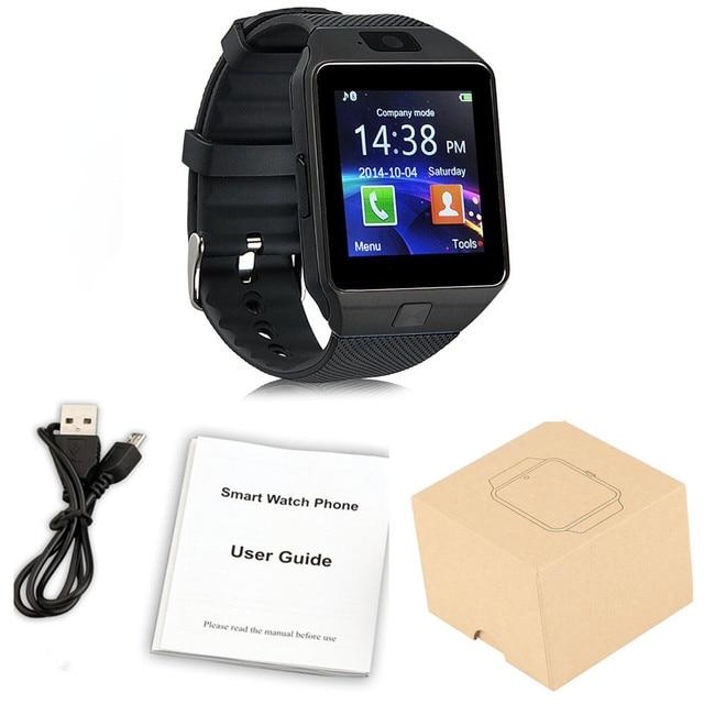 Giyilebilir Cihazlar DZ09 akıllı saat Destek SIM TF Kart Elektronik kol saati Bağlantı Android Smartphone DZ09 akıllı saat Bileklik