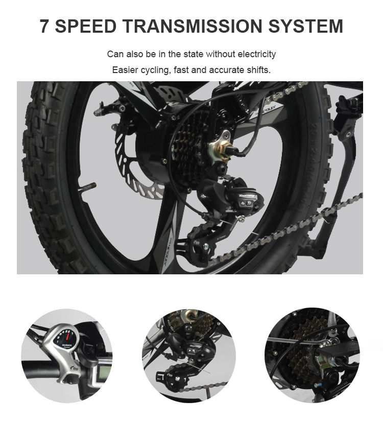 HTB1dg2kX5DxK1RjSsphq6zHrpXaA - Daibot Transportable Electrical Bike Two Wheels Electrical Scooters 20 inch Brushless Motor 250W Folding Electrical Bicycle 48V For Adults