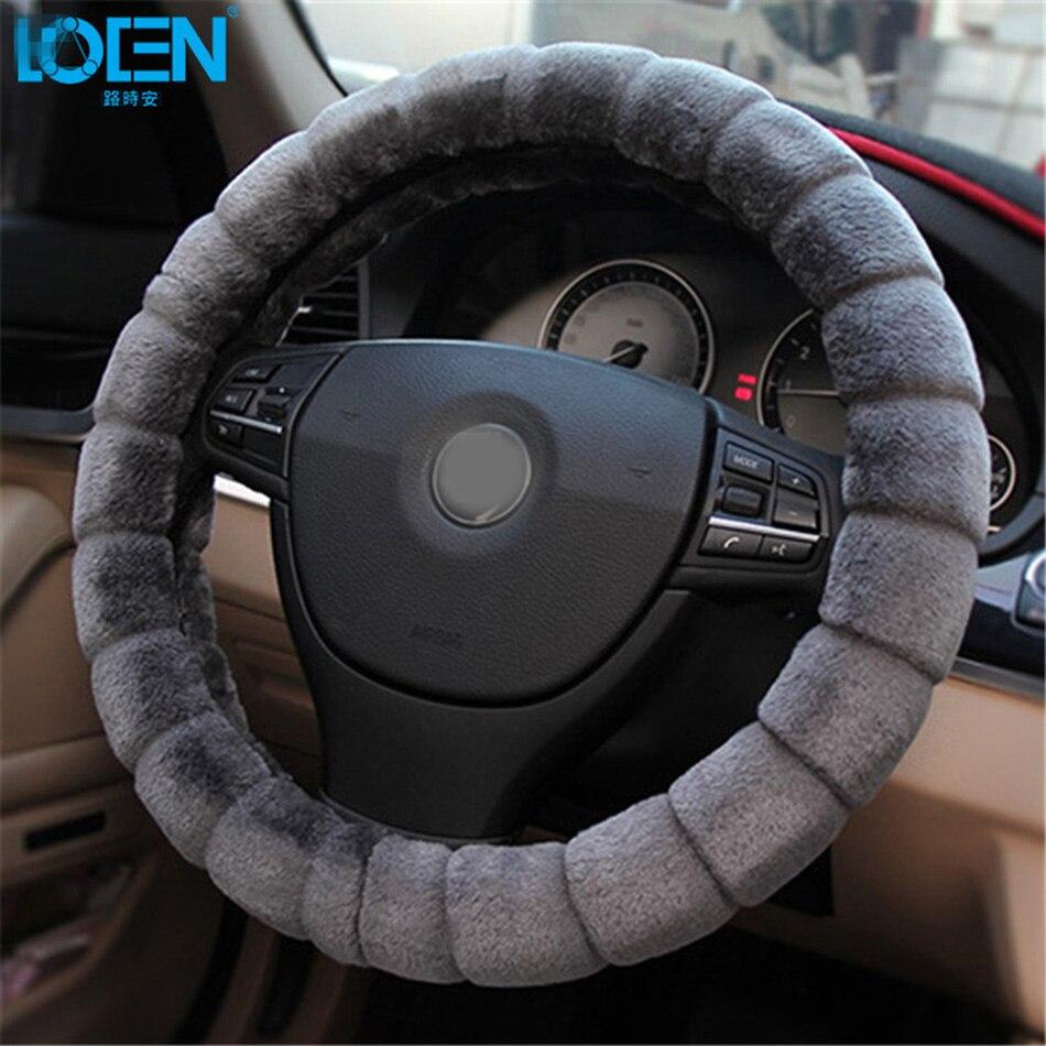 1 PC housse de volant de voiture en peluche chauffée hiver pour Ford BMW 0 Toyota Hyundai Chevrolet Skoda Kia Honda Bucik Lada