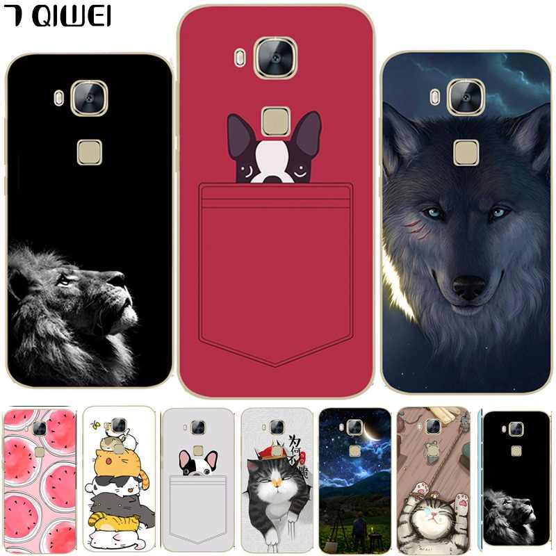For Huawei GX8 Case Silicon Painting Cartoon Back Phone Cases Cover For Fundas Huawei G8 Case RIO L01 L02 Case TPU Soft  Coque