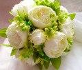 2017 Букет де mariage Дешевые Белый Пион Свадебный Букет Невесты Свадебный Букет Искусственный Букет Невесты Свадебные Цветы