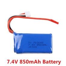 7.4 V 850 mAh Batería para WLtoys V912/V262/V353 V353B/V915 2.4G 4CH Helicóptero De Repuesto partes
