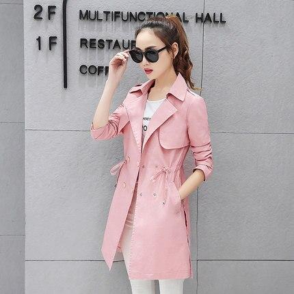La Nouvelle Sauvage 3 À vent 2018 De Coupe Mode Version Printemps Longues Femmes Coréenne 2 Mince Femme Manteau Veste Manches 1 Taille D'automne v8anxxwqI